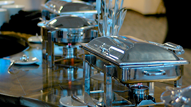 Stainless steel service at Hollywood Gaming