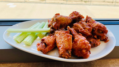 wings with celery